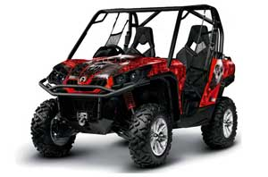 Can-Am Commander 1000 / 800 Graphic Kit - All Years Bone Collector Red