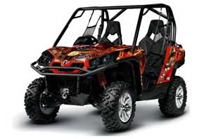 Can-Am Commander 1000 / 800 Graphic Kit - All Years Firestorm Red