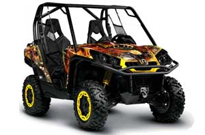 Can-Am Commander 1000 / 800 Graphic Kit - All Years Firestorm Yellow