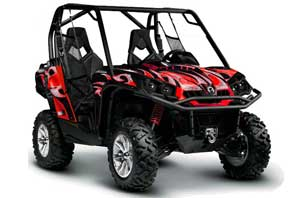 Can-Am Commander 1000 / 800 Graphic Kit - All Years Tribal Flames Black