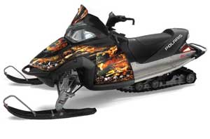 Polaris Fusion Sled Graphic Kit - 2005-2007 Firestorm Black