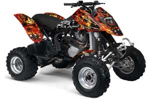 Can Am Bombardier DS650 ATV Graphic Kit - 2006-2016 Firestorm Red