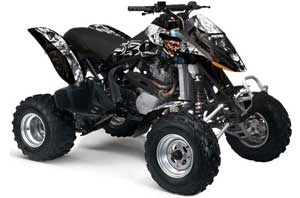 Can Am Bombardier DS650 ATV Graphic Kit - 2006-2016 Mad Hatter Black
