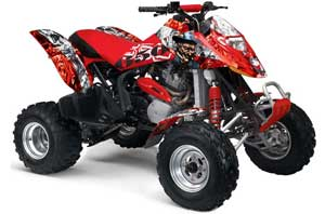 Can Am Bombardier DS650 ATV Graphic Kit - 2006-2016 Mad Hatter Red