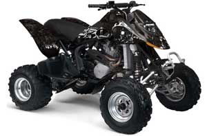 Can Am Bombardier DS650 ATV Graphic Kit - 2006-2016 Reaper Black