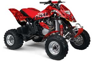 Can Am Bombardier DS650 ATV Graphic Kit - 2006-2016 Reaper Red