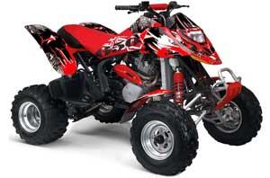Yamaha Warrior 350 ATV Graphic Kit - All Years T Bomber Yellow Street Star