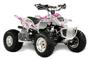 Apex Pro Shark MXR 70 / 90 ATV Graphic Kit - All Years Butterfly Pink
