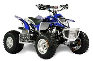 Apex Pro Shark MXR 70 / 90 ATV Graphic Kit - All Years Carbon X Blue