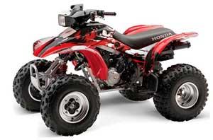 Honda TRX 300EX ATV Graphic Kit - 1993-2006 Carbon X Red