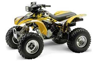 Honda TRX 300EX ATV Graphic Kit - 1993-2006 Carbon X Yellow