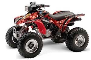 Honda TRX 300EX ATV Graphic Kit - 1993-2006 Mad Hatter Red