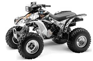 Honda TRX 300EX ATV Graphic Kit - 1993-2006 Mad Hatter White