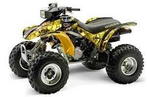 Honda TRX 300EX ATV Graphic Kit - 1993-2006 Mad Hatter Yellow