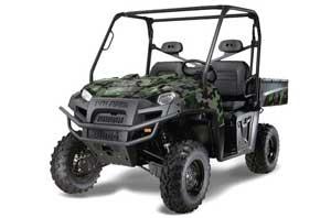Polaris Ranger XP 500 / 800 / 900D 4x4 EFI Graphic Kit - 2010-2014 Camo Plate Green