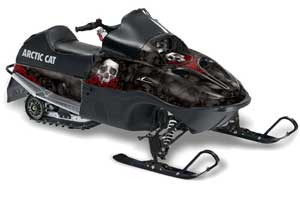 Arctic Cat 120 Sno Pro Youth Sled Graphic Kit - All Years Bone Collector Black