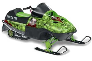 Arctic Cat 120 Sno Pro Youth Sled Graphic Kit - All Years Bone Collector Green