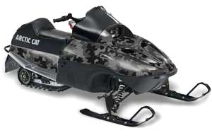 Arctic Cat 120 Sno Pro Youth Sled Graphic Kit - All Years Camoplate Black