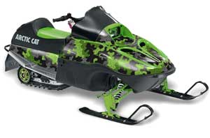 Arctic Cat 120 Sno Pro Youth Sled Graphic Kit - All Years Camoplate Green