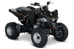 Can Am Bombardier DS250 ATV Graphic Kit - 2006-2016 Reaper Black