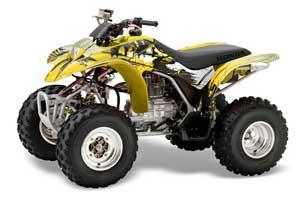 Honda TRX 250EX / 250X ATV Graphic Kit - 2002-2005 Carbon X Yellow