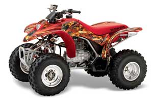 Honda TRX 250EX / 250X ATV Graphic Kit - 2002-2005 Firestorm Red