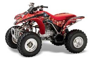Honda TRX 250EX / 250X ATV Graphic Kit - 2002-2005 Mad Hatter Red