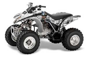 Honda TRX 250EX / 250X ATV Graphic Kit - 2002-2005 Mad Hatter White