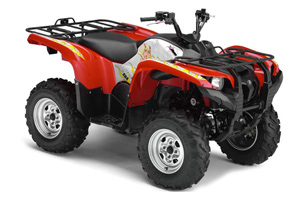 Yamaha Grizzly 700 / 550 ATV Graphic Kit - 2007-2014 Motorhead Mandy Red