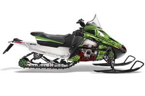 Arctic Cat F Z1 Series Sled Graphic Kit - All Years Bone Collector Green