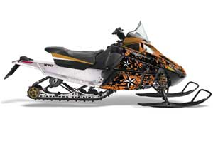 Arctic Cat F Z1 Series Sled Graphic Kit - All Years North Star Orange