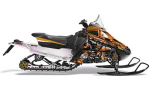 Arctic Cat F Z1 Series Sled Graphic Kit - All Years Mad Hatter Orange