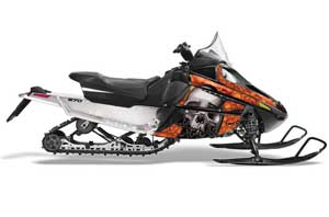 Arctic Cat F Z1 Series Sled Graphic Kit - All Years Bone Collector Orange