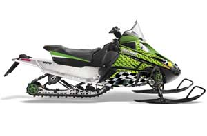 Arctic Cat F Z1 Series Sled Graphic Kit - All Years Playing Cards Green