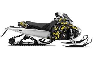 Yamaha FX Nytro Sled Graphic Kit - 2008-2014 Camoplate Yellow