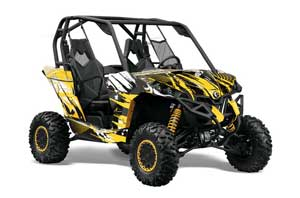 Can-Am Maverick 1000 X RS R Graphic Kit - 2013-2016 Carbon X Yellow
