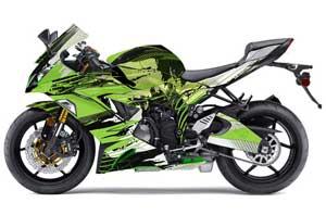 Kawasaki 636 ZX6-R Ninja Graphic Kit - 2013-2016 Carbon X Green