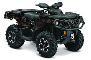 Can Am Outlander XMR / MAX / XT ATV Graphic Kit - 2006-2011 Reaper Black