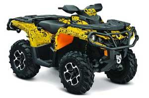 Can Am Outlander XMR / MAX / XT ATV Graphic Kit - 2006-2011 Meltdown Yellow