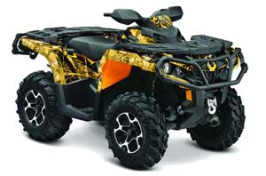 Can Am Outlander XMR / MAX / XT ATV Graphic Kit - 2006-2011 Mad Hatter Yellow