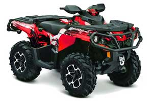 Can Am Outlander XMR / MAX / XT ATV Graphic Kit - 2006-2011 Carbon X Red