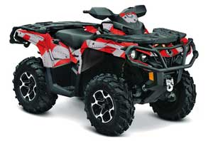 Can Am Outlander XMR / MAX / XT ATV Graphic Kit - 2006-2011 T Bomber Red
