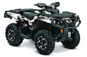 Can Am Outlander XMR / MAX / XT ATV Graphic Kit - 2006-2011 Carbon X White