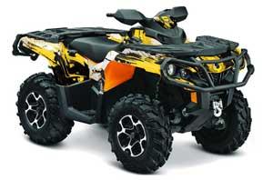 Can Am Outlander XMR / MAX / XT ATV Graphic Kit - 2006-2011 Carbon X Yellow
