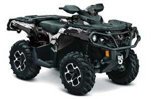 Can Am Outlander XMR / MAX / XT ATV Graphic Kit - 2006-2011 Carbon X Black