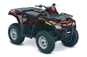 Can Am Outlander EFI 500 / 650 ATV Graphic Kit - 2012-2015 Meltdown Red