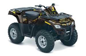 Can Am Outlander EFI 500 / 650 ATV Graphic Kit - 2012-2015 Meltdown Yellow