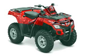 Can Am Outlander EFI 500 / 650 ATV Graphic Kit - 2012-2015 Reaper Red