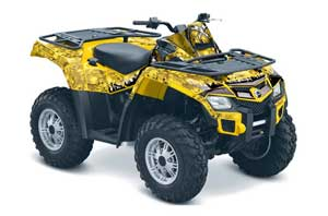 Can Am Outlander EFI 500 / 650 ATV Graphic Kit - 2012-2015 Reaper Yellow