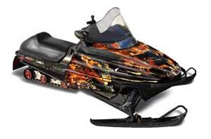 Polaris 700XC / 800XCR / 600 RMK Sled Graphic Kit - 1999-2003 Firestorm Black